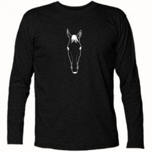 Koszulka z długim rękawem Horse portrait with lines - PrintSalon