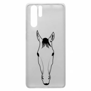 Etui na Huawei P30 Pro Horse portrait with lines