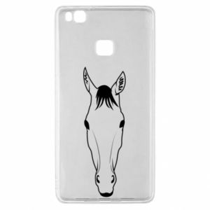 Etui na Huawei P9 Lite Horse portrait with lines