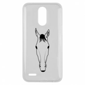 Etui na Lg K10 2017 Horse portrait with lines