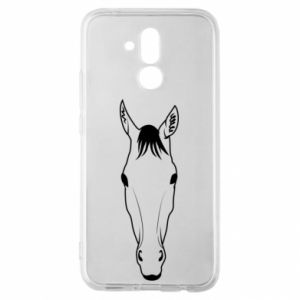 Etui na Huawei Mate 20 Lite Horse portrait with lines