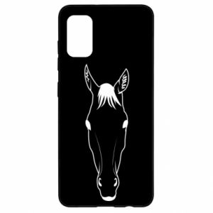 Etui na Samsung A41 Horse portrait with lines