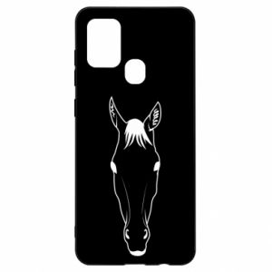 Etui na Samsung A21s Horse portrait with lines