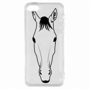 Etui na iPhone 5/5S/SE Horse portrait with lines