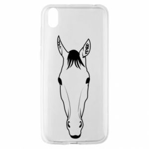 Etui na Huawei Y5 2019 Horse portrait with lines