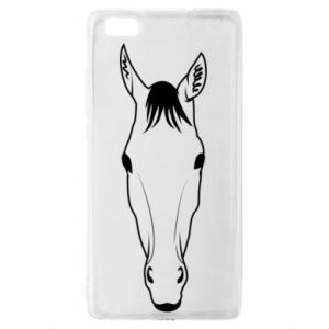 Etui na Huawei P 8 Lite Horse portrait with lines
