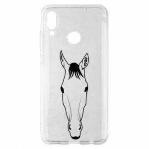 Etui na Huawei P Smart 2019 Horse portrait with lines