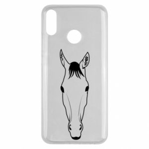 Etui na Huawei Y9 2019 Horse portrait with lines