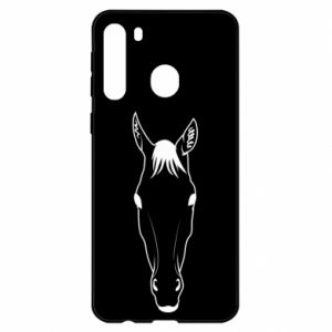 Etui na Samsung A21 Horse portrait with lines
