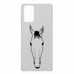 Etui na Samsung Note 20 Horse portrait with lines