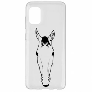 Etui na Samsung A31 Horse portrait with lines