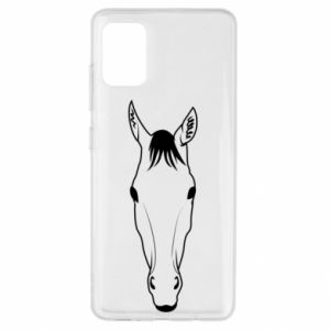 Etui na Samsung A51 Horse portrait with lines