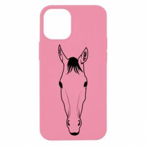 Etui na iPhone 12 Mini Horse portrait with lines