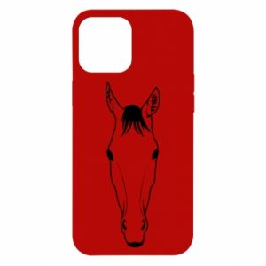 Etui na iPhone 12 Pro Max Horse portrait with lines