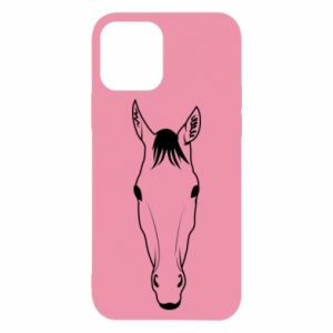 Etui na iPhone 12/12 Pro Horse portrait with lines
