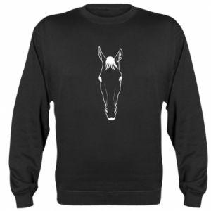 Bluza (raglan) Horse portrait with lines - PrintSalon