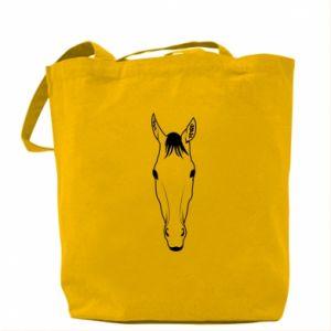 Torba Horse portrait with lines - PrintSalon