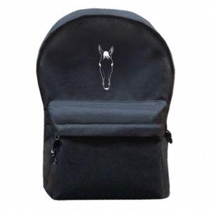 Plecak z przednią kieszenią Horse portrait with lines - PrintSalon