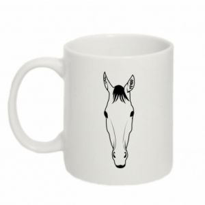 Mug 330ml Horse portrait with lines