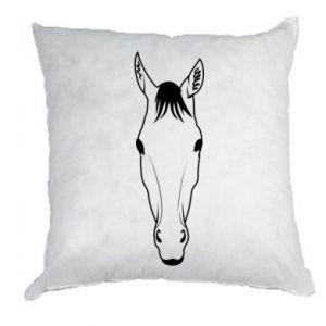Poduszka Horse portrait with lines - PrintSalon