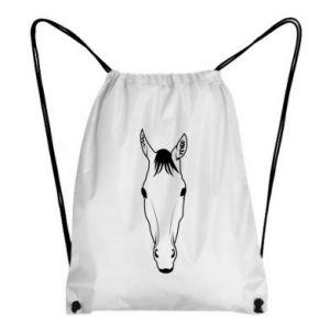 Plecak-worek Horse portrait with lines - PrintSalon