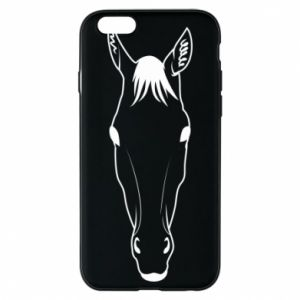 Etui na iPhone 6/6S Horse portrait with lines