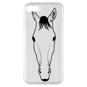 Phone case for iPhone 8 Horse portrait with lines