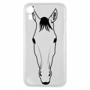 Etui na iPhone XR Horse portrait with lines