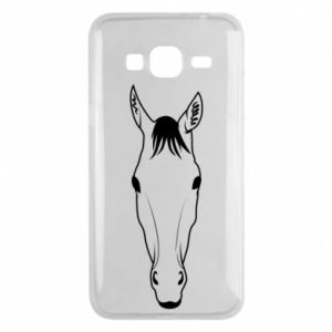 Etui na Samsung J3 2016 Horse portrait with lines