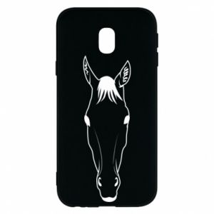 Etui na Samsung J3 2017 Horse portrait with lines