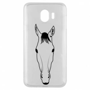 Etui na Samsung J4 Horse portrait with lines