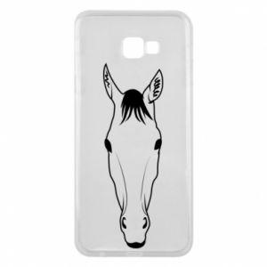 Etui na Samsung J4 Plus 2018 Horse portrait with lines
