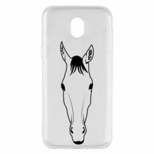 Etui na Samsung J5 2017 Horse portrait with lines
