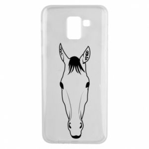 Etui na Samsung J6 Horse portrait with lines
