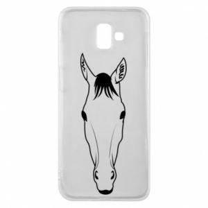 Etui na Samsung J6 Plus 2018 Horse portrait with lines