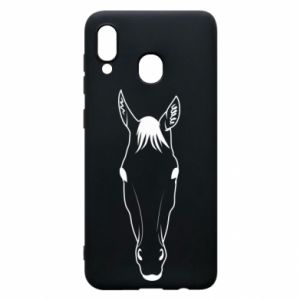 Etui na Samsung A20 Horse portrait with lines