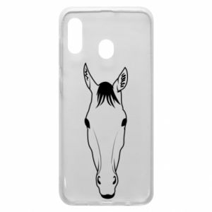 Etui na Samsung A30 Horse portrait with lines