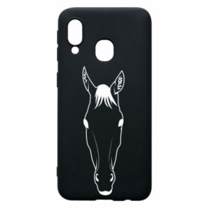 Etui na Samsung A40 Horse portrait with lines