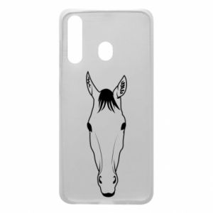 Etui na Samsung A60 Horse portrait with lines