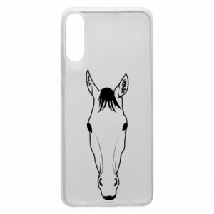 Etui na Samsung A70 Horse portrait with lines