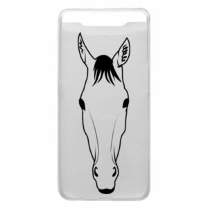 Etui na Samsung A80 Horse portrait with lines
