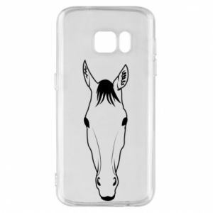 Etui na Samsung S7 Horse portrait with lines