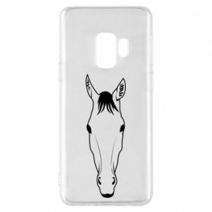 Etui na Samsung S9 Horse portrait with lines