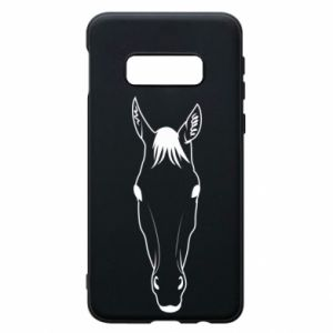 Etui na Samsung S10e Horse portrait with lines