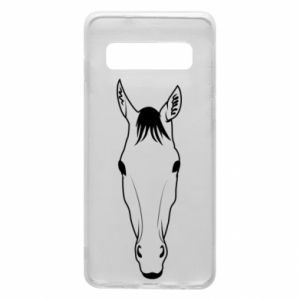 Etui na Samsung S10 Horse portrait with lines