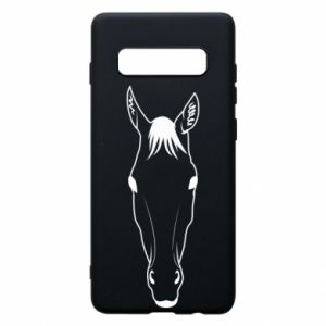 Etui na Samsung S10+ Horse portrait with lines