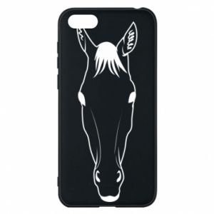 Etui na Huawei Y5 2018 Horse portrait with lines