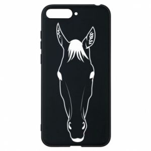 Etui na Huawei Y6 2018 Horse portrait with lines