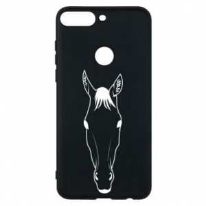 Etui na Huawei Y7 Prime 2018 Horse portrait with lines