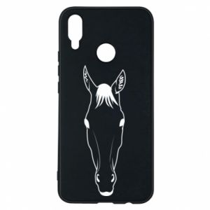 Etui na Huawei P Smart Plus Horse portrait with lines